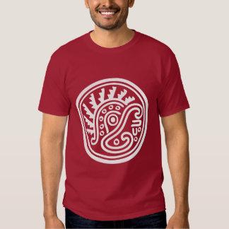 Símbolo do capacete da pena do Maya T-shirts