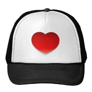 Símbolo do coração do vetor boné