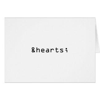 Símbolo do coração no cartão do HTML