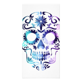 Símbolo do Dia das Bruxas do crânio Cartão Com Foto