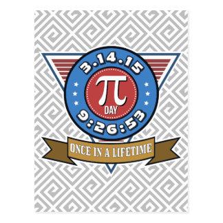 Símbolo do dia do Pi para o cartão do costume dos Cartão Postal