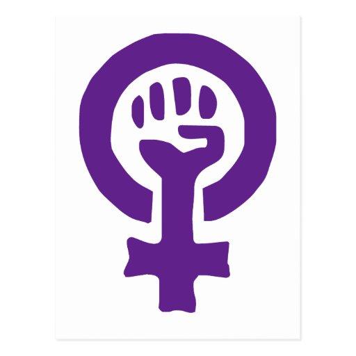 Símbolo do feminismo cartão postal