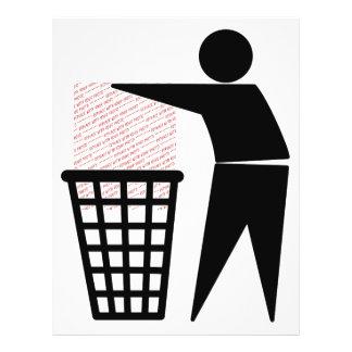 Símbolo do homem do lixo (adicione a foto) flyer 21.59 x 27.94cm