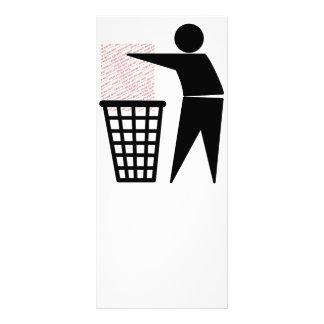 Símbolo do homem do lixo (adicione a foto) panfleto informativo personalizado