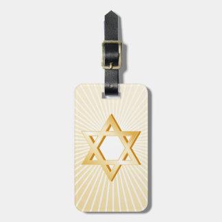 Símbolo do judaísmo etiqueta de bagagem