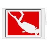 Símbolo do mergulho cartoes