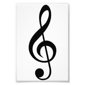 Símbolo do Musical do G-Clef do Clef de triplo Impressão Fotográfica
