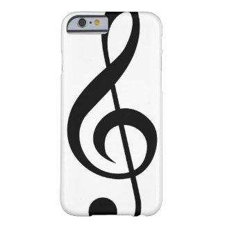 Símbolo do Musical do G-Clef do Clef de triplo Capa Barely There Para iPhone 6