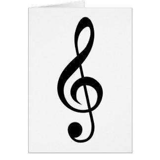 Símbolo do Musical do G-Clef do Clef de triplo Cartão De Nota