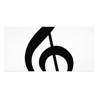 Símbolo do Musical do G-Clef do Clef de triplo Cartão Com Foto