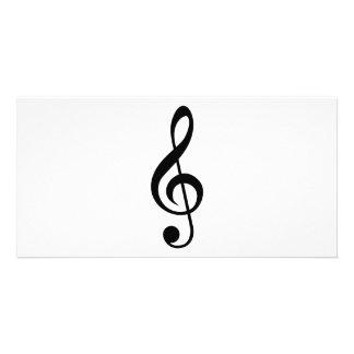 Símbolo do Musical do G-Clef do Clef de triplo Cartão Com Foto Personalizado
