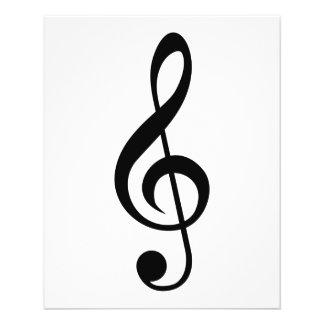 Símbolo do Musical do G-Clef do Clef de triplo Flyer 11.43 X 14.22cm
