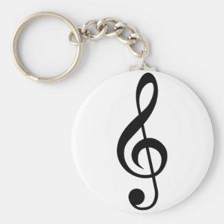 Símbolo do Musical do G-Clef do Clef de triplo Chaveiros
