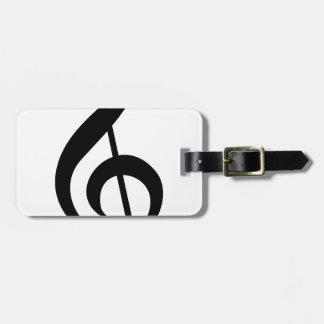 Símbolo do Musical do G-Clef do Clef de triplo Etiqueta De Mala De Viagem