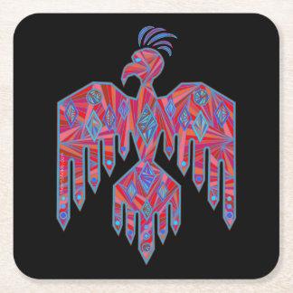 Símbolo do nativo americano da arte do sudoeste de porta-copo de papel quadrado