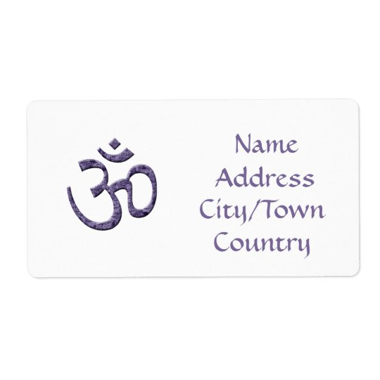 Símbolo do OM/etiqueta de endereço roxos Etiqueta De Frete