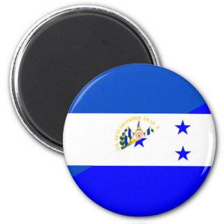 símbolo do país da bandeira de El Salvador Ímã Redondo 5.08cm
