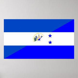 símbolo do país da bandeira de El Salvador Poster