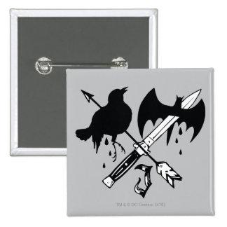 Símbolo do palhaço do pelotão | do suicídio bóton quadrado 5.08cm