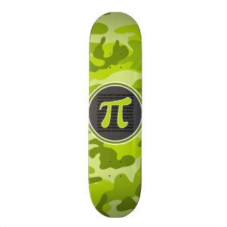 Símbolo do Pi; camo verde-claro, camuflagem Shape De Skate 18,7cm
