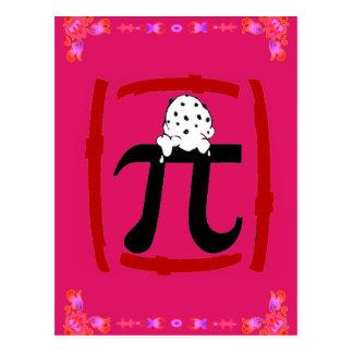 Símbolo do Pi Cartão Postal