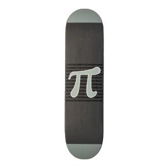 Símbolo do Pi das cinzas de cinza Shape De Skate 19,7cm