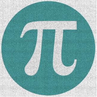 Símbolo do Pi do geek da matemática, círculo azul Escultura De Foto