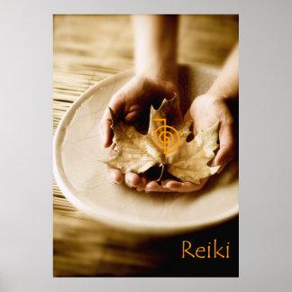 Símbolo do poder de Reiki Posters