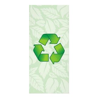 Símbolo do reciclagem 10.16 x 22.86cm panfleto