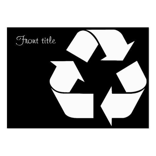 Símbolo do reciclagem - branco (para fundos pretos cartões de visitas