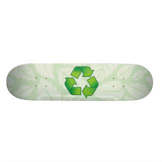 Símbolo do reciclagem shape de skate 18,1cm