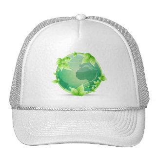 Símbolo do reciclar da terra verde bones