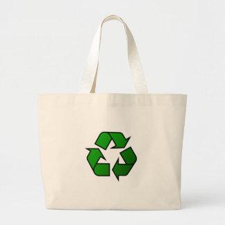 Símbolo do reciclar & reusar - salvar o planeta bolsa de lona