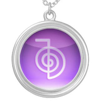 símbolo do reiki colar com pendente redondo