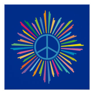Símbolo do sinal de paz posters