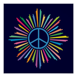 Símbolo do sinal de paz poster