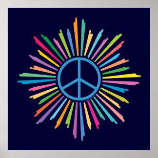 Símbolo do sinal de paz pôsteres