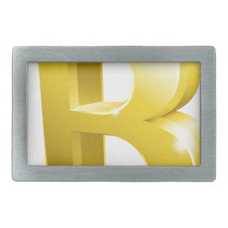 Símbolo do sinal do ouro de Bitcoin 3d