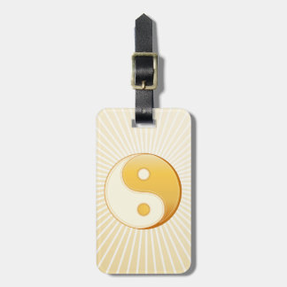 Símbolo do taoísmo etiqueta de bagagem