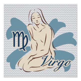 Símbolo do Virgo do sinal do zodíaco Poster Perfeito