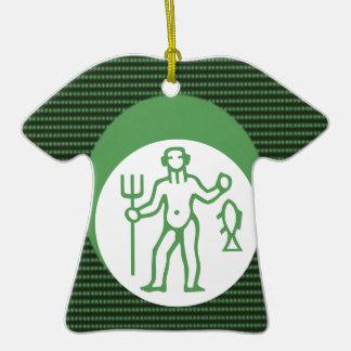 Símbolo do zodíaco da astrologia dos PEIXES Ornamento De Cerâmica Camiseta