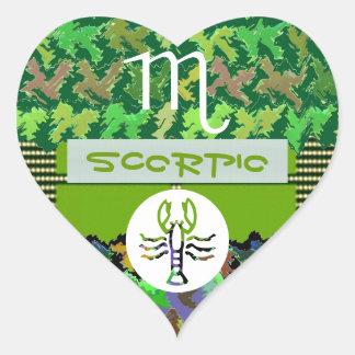 Símbolo do zodíaco da ESCORPIÃO Adesivo De Coração