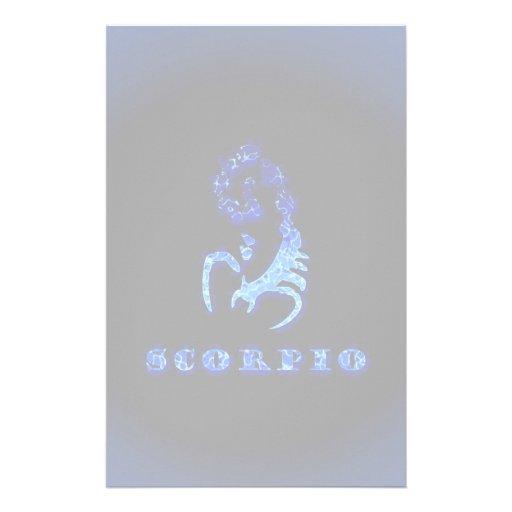 Símbolo do zodíaco da Escorpião Papelaria