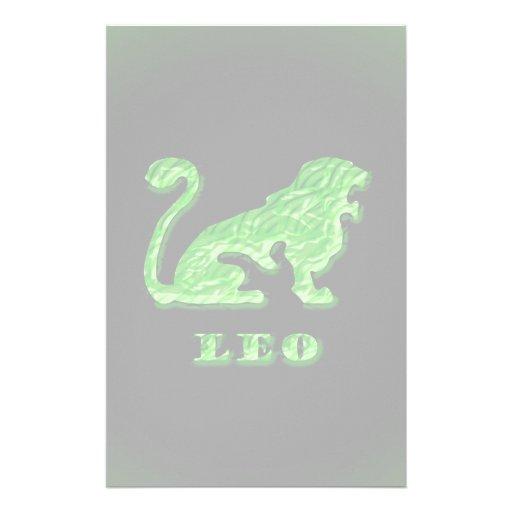 Símbolo do zodíaco de Leo Papéis Personalizados