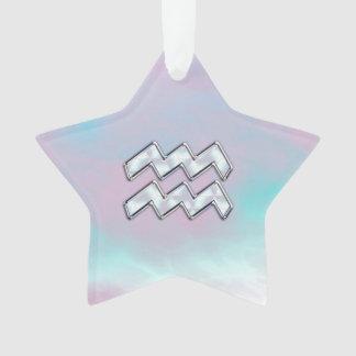 Símbolo do zodíaco do Aquário na decoração da