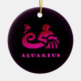 Símbolo do zodíaco do Aquário Ornamento Para Arvore De Natal