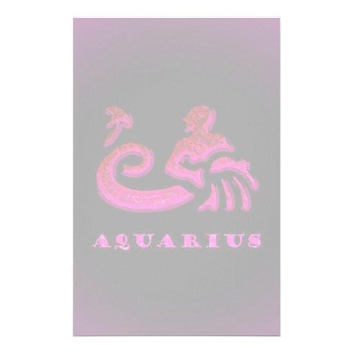 Símbolo do zodíaco do Aquário Papelaria