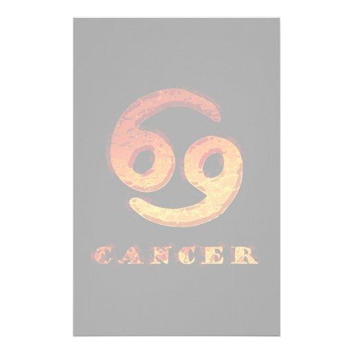 Símbolo do zodíaco do cancer papel personalizados