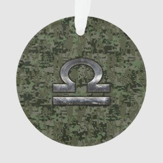 Símbolo do zodíaco do Libra na camuflagem verde de