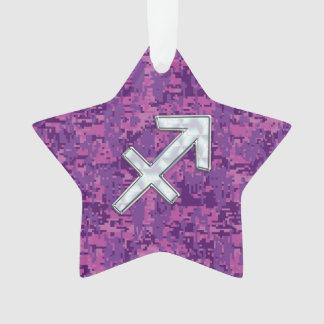 Símbolo do zodíaco do Sagitário em Digitas fúcsia